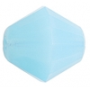 Fire polished 15mm Bicone Blue Aqua Opal Natural Strung